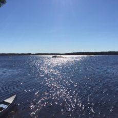 Angeln im Samin See_Kanutour in Finnland