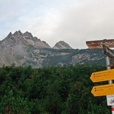 Wegweiser_Wanderung Reintal auf die Zugspitze