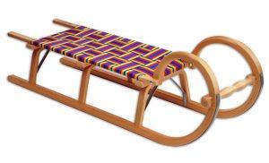 Ress Hörnerrodel Gurtsitz im Holzschlitten Vergleich
