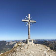 Wanderung vom Vilsalpsee auf das Gaishorn_Gipfelkreuz