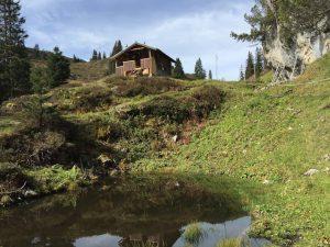 Wanderung über das Gottesackerplateau_Jagdhütte