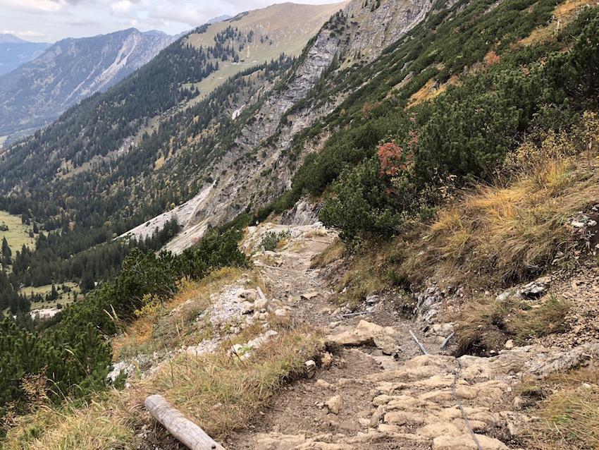 Abstieg nach Hinterstein_Prinz-Luitpold-Haus über den Jubiläumsweg zum Schrecksee