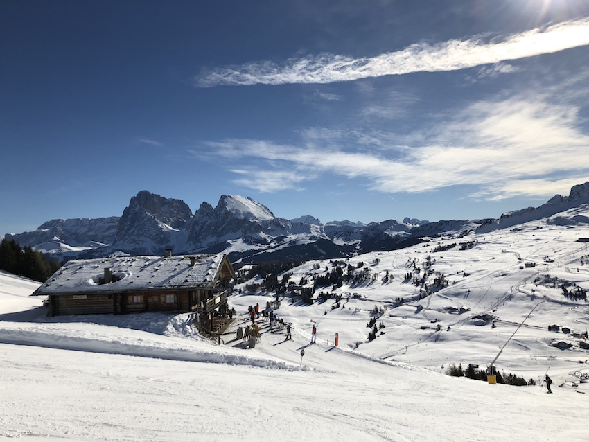 Skifahren auf der Seiser Alm_Blick vom Puflatsch
