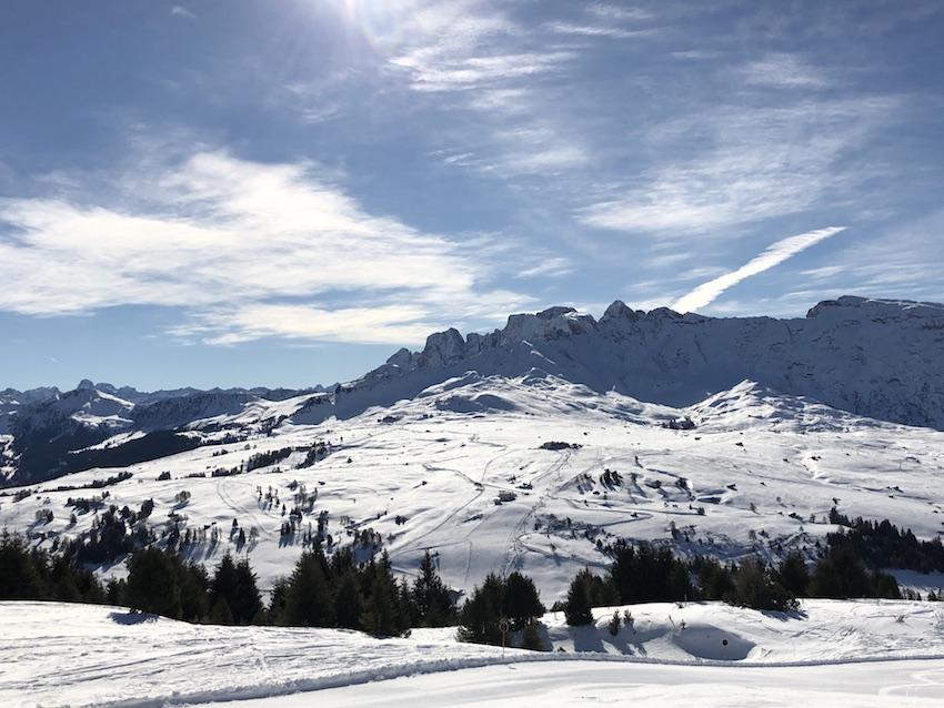 Skifahren auf der Seiser Alm_Panorama