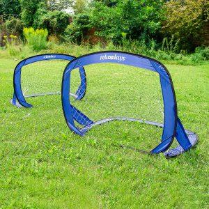 Relaxdays 2er Set Pop Up Fußballtore für den Garten
