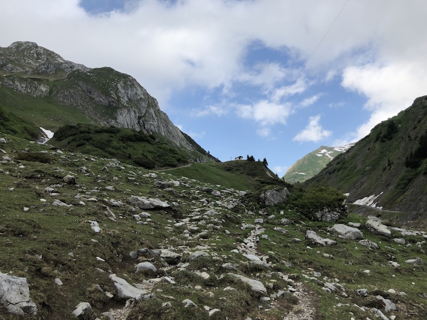 Wanderung vom Spullersee über die Ravensburger Hütte nach Zug_Aufstieg zur Hütte