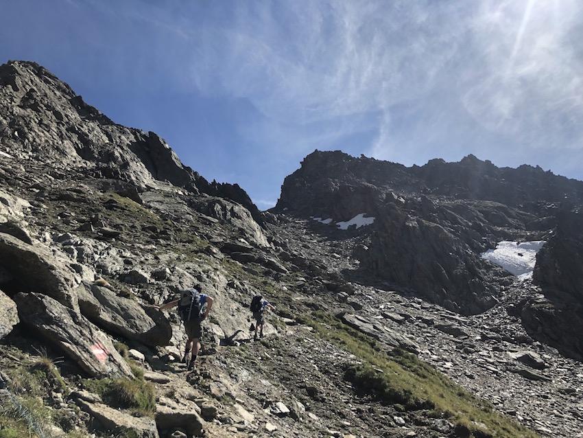 Aufstieg zum Zwieselbacher Roßkogel_Weg im Fidaskar
