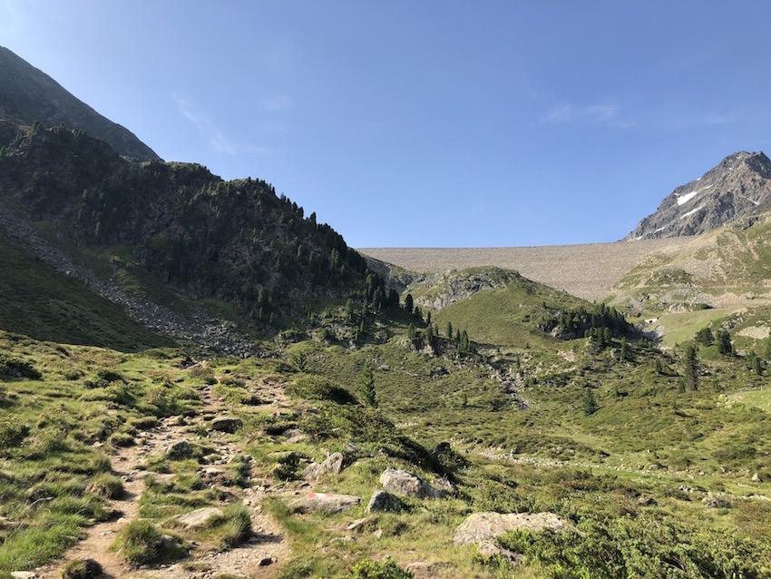 Aufstieg zum Finstertaler Stausee