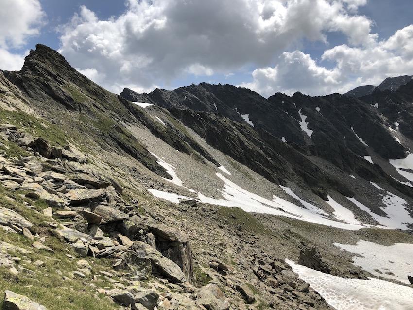 Finstertaler Scharte zur Kraspesspitze