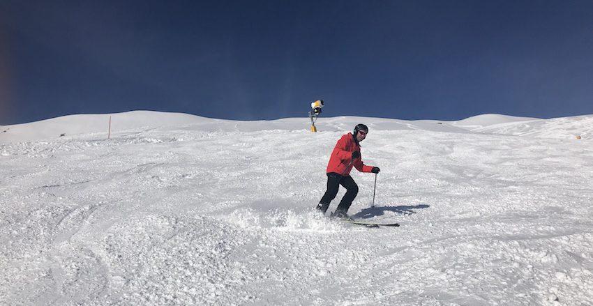 WEDZE Piste 900 Ski von Decathlon auf der Piste