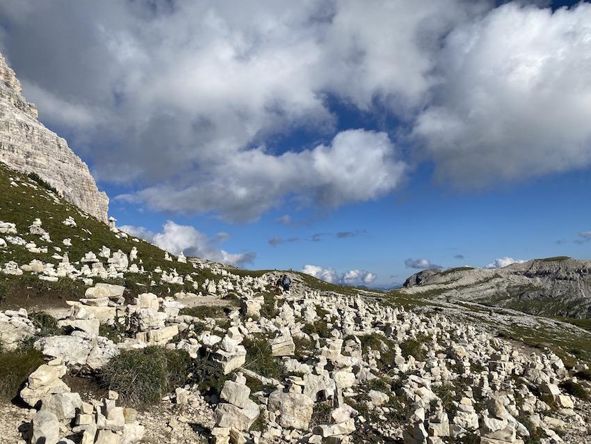 Steinmandl auf der 3-Zinnen-Runde
