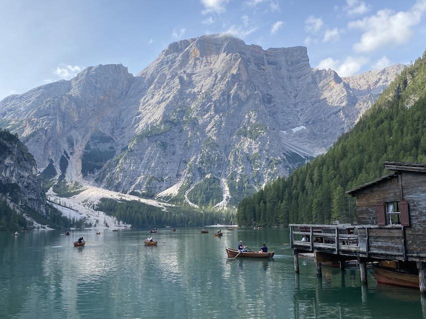 Wanderung um den Pragser Wildsee_Beim Bootshaus