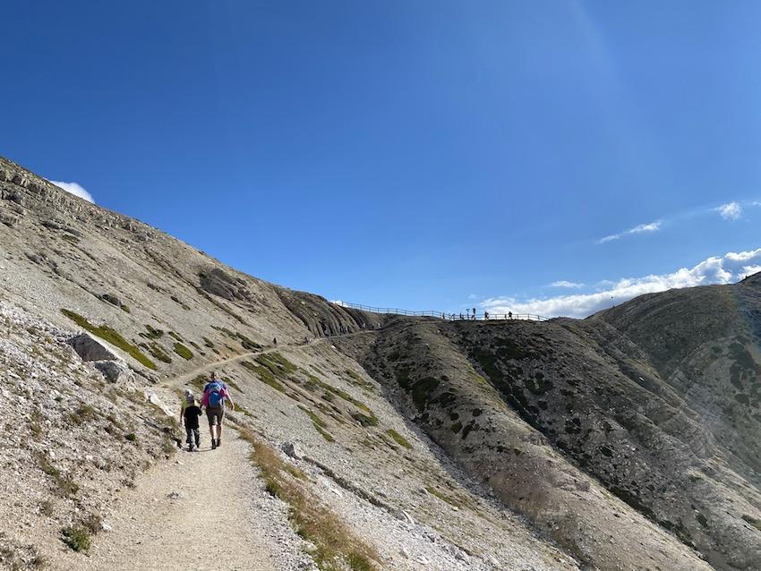 Weg zur Forcella del Col de Mezo